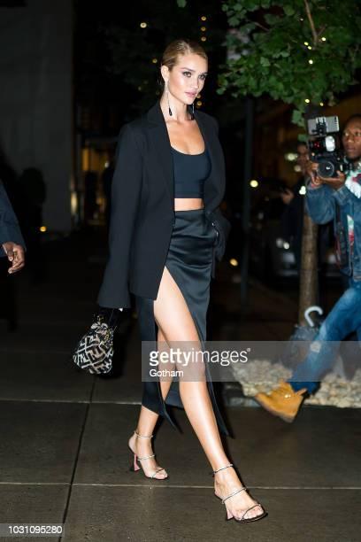 Rosie Huntington-Whiteley is seen in SoHo on September 10, 2018 in New York City.