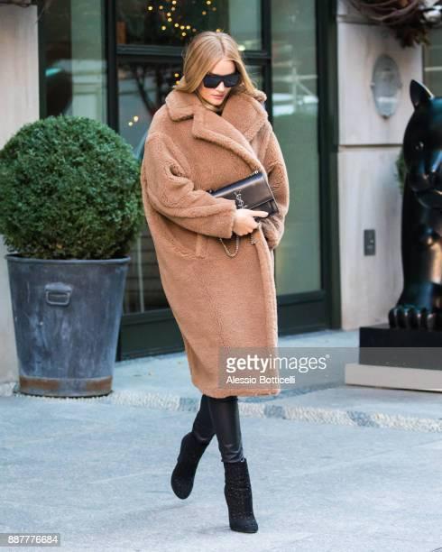 Rosie HuntingtonWhiteley is seen leaving her hotel on December 7 2017 in New York New York
