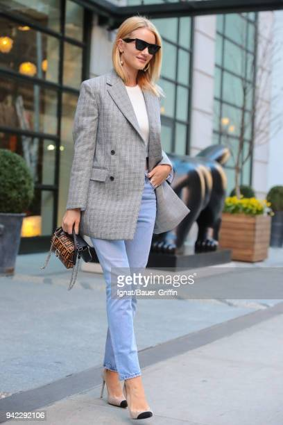 Rosie HuntingtonWhiteley is seen on April 05 2018 in New York City