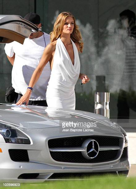 Rosie HuntingtonWhiteley is seen on location for Transformers 3 on July 2 2010 in Los Angeles California