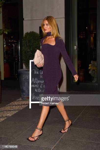 Rosie Huntington-Whiteley is seen out and about in Manhattan on November 7, 2019 in New York City.