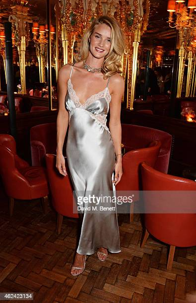 Rosie HuntingtonWhiteley launches her eponymous first fragrance with MS Beauty at Cafe Royal on January 28 2015 in London England