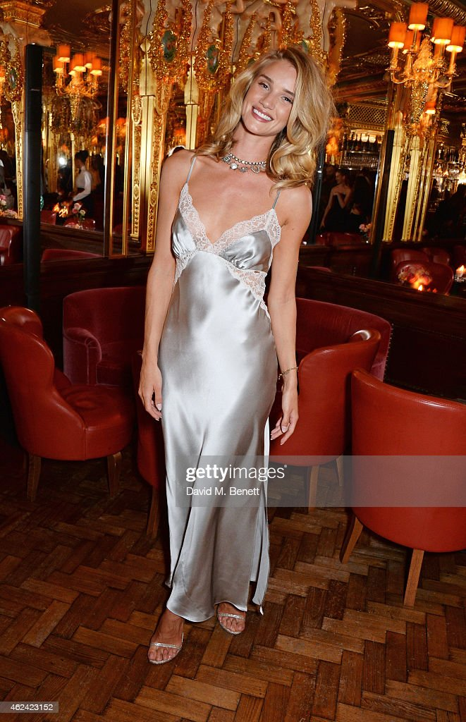Rosie Huntington-Whiteley launches her eponymous first fragrance with M&S Beauty at Cafe Royal on January 28, 2015 in London, England.