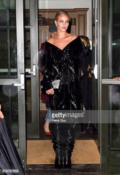 Rosie HuntingtonWhiteley leaves her hotel on February 10 2018 in New York City