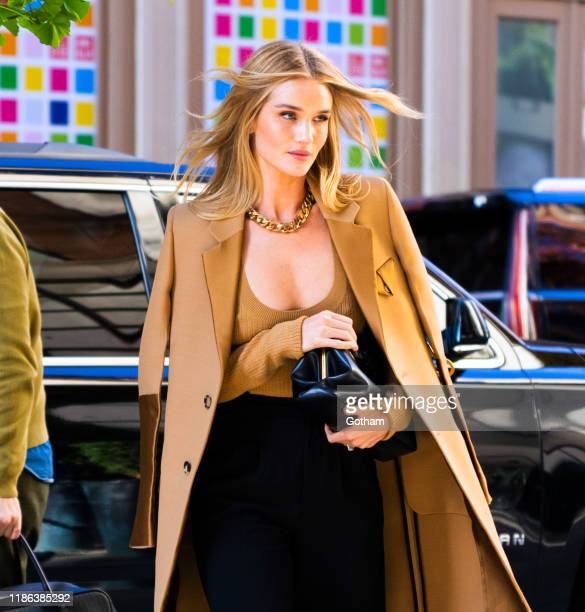 Rosie Huntington-Whiteley out and about on November 08, 2019 in New York City.