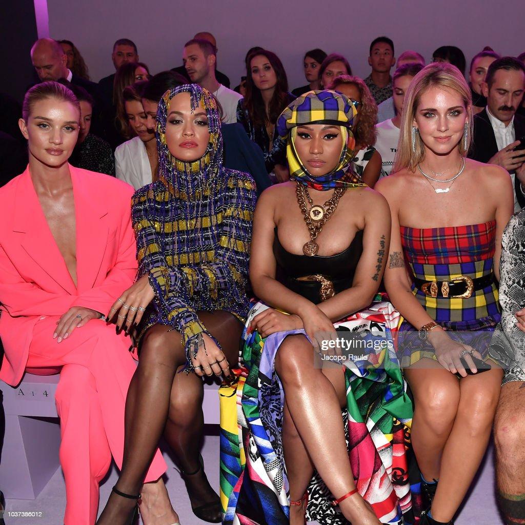 Versace - Front Row - Milan Fashion Week Spring/Summer 2019 : Foto di attualità