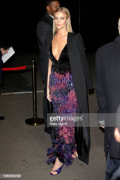 Rosie HuntingtonWhiteley seen arriving at The Fashion Awards 2018 at the Royal Albert Hall on December 10 2018 in London England