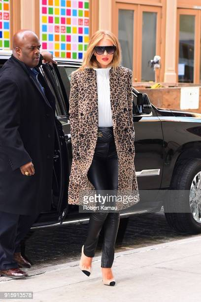 Rosie HuntingtonWhiteley seen out and about in Manhattan on February 8 2018 in New York City