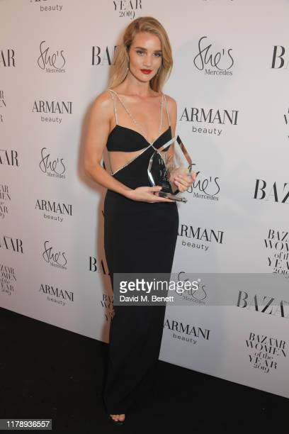 Rosie Huntington-Whiteley, winner Of The Editor's Choice Award, attends the Harper's Bazaar Women of the Year Awards 2019, in partnership with Armani...