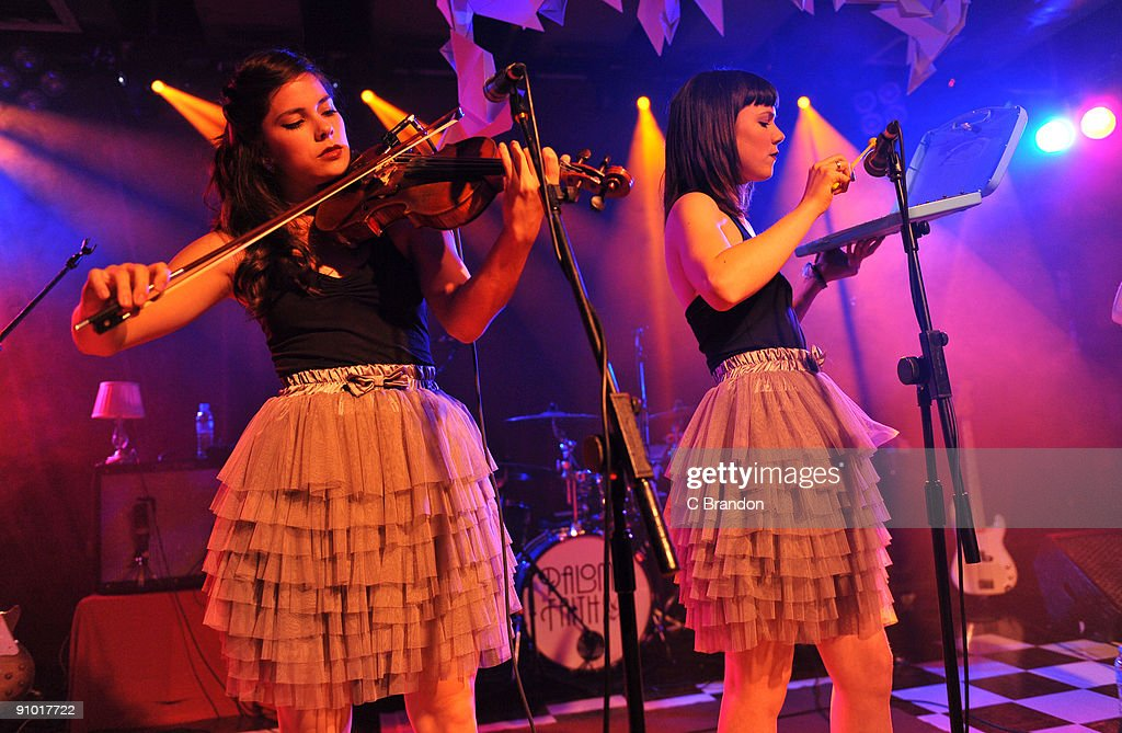Rosie Langley and Edie Langley of the Langley Sisters perform on