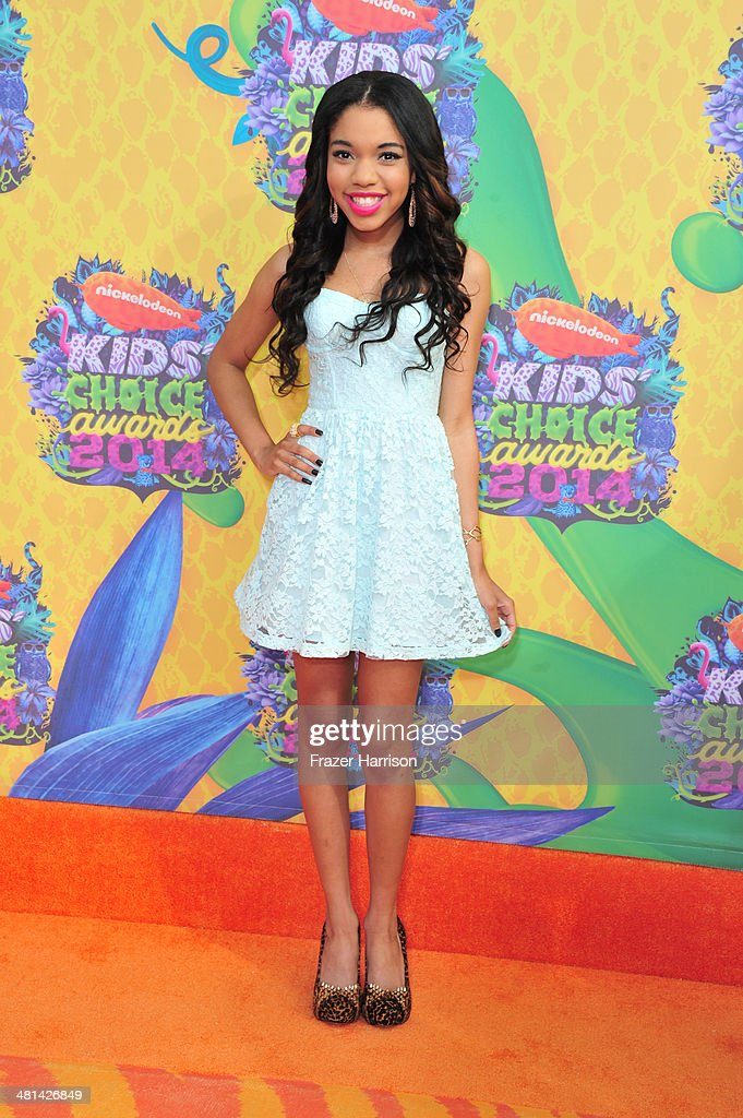 Rosie Madsen attends Nickelodeon's 27th Annual Kids' Choice Awards held at USC Galen Center on March 29, 2014 in Los Angeles, California.