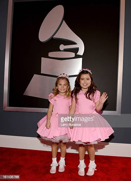 Rosie McClelland and Sophia Grace Brownlee attend the 55th Annual GRAMMY Awards at STAPLES Center on February 10 2013 in Los Angeles California