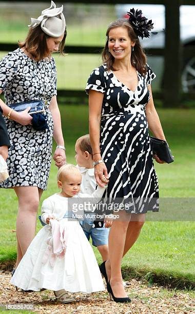 Rosie Meade attends the wedding of James Meade and Lady Laura Marsham at the Parish Church of St Nicholas in Gayton on September 14 2013 near King's...