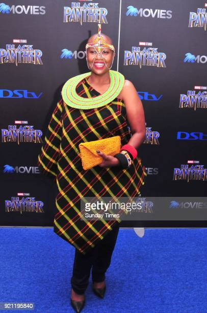 Rosie Motene during the Black Panther movie premiere at Montecasino on February 16 2018 in Fourways South Africa Your culture in South Africa...
