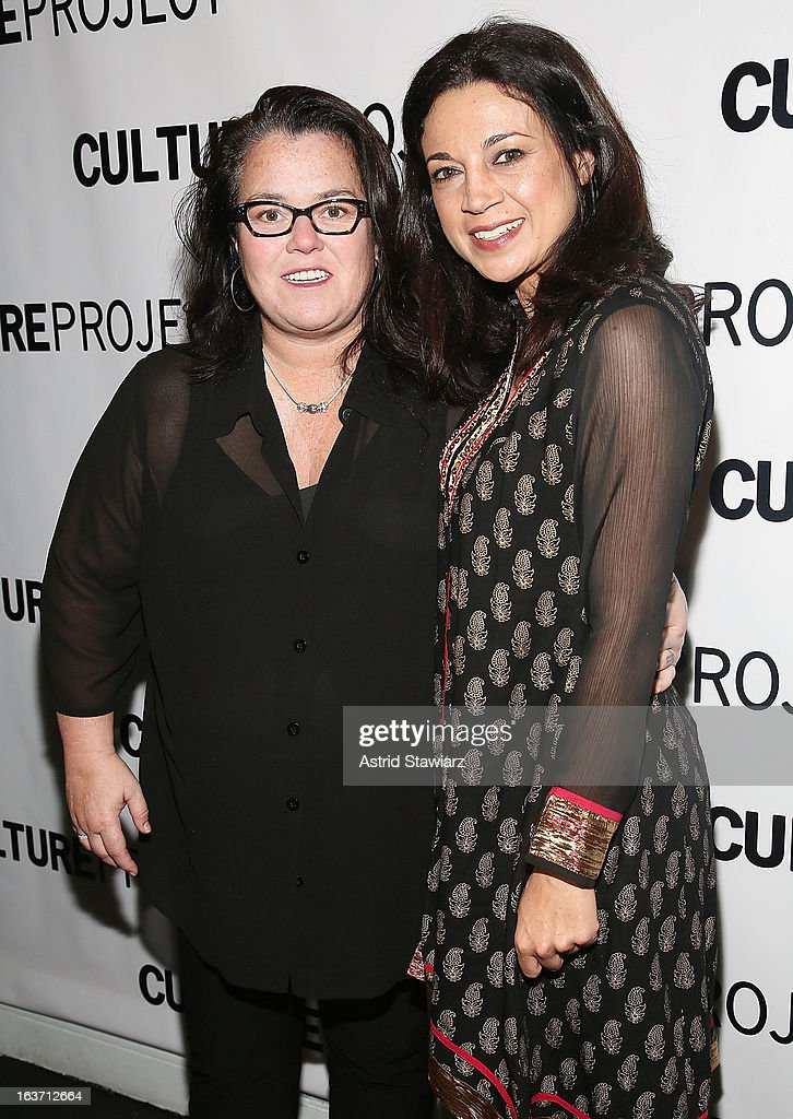 Rosie O'Donnell and Anna Khaja attend 'Shaheed: The Dream And Death Of Benazir Bhutto' Off Broadway Opening Night at Culture Project on March 14, 2013 in New York City.