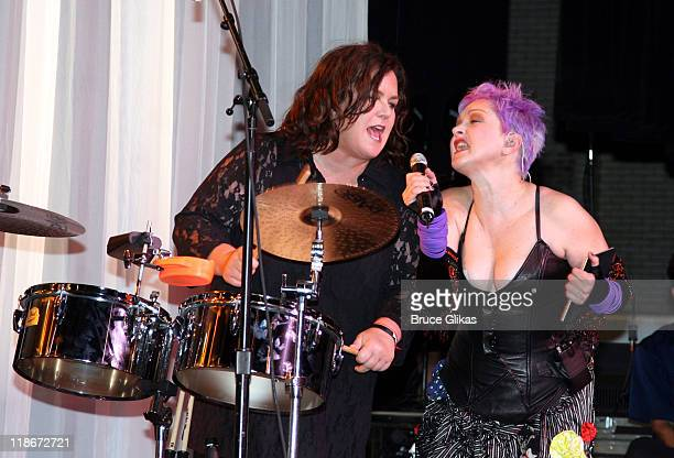 Rosie O'Donnell and Cyndi Lauper during 2007 True Colors Tour at Radio City Music Hall in New York City New York United States