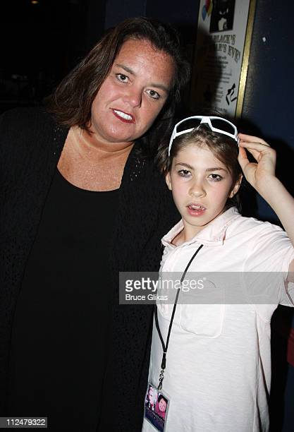 Rosie O'Donnell and Declyn Wallace Thornton Lauper pose backstage at the Girls Night Out tour at the Capital One Bank Theatre on August 8 2009 in...