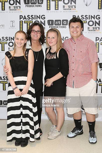 Rosie O'Donnell and family attend the Fifth Annual Rosie's Theater Kids Spring Benefit at The Alvin Ailey Citigroup Theater on May 17 2015 in New...