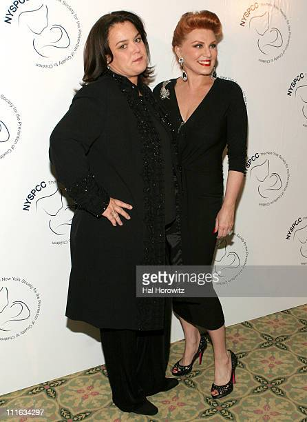 Rosie O'Donnell and Georgette Mosbacher during 2006 Gala of The New York Society for the Prevention of Cruelty to Children at Pierre Hotel in New...