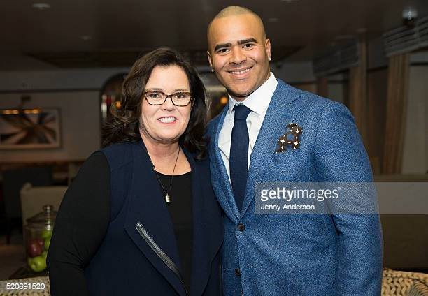 Rosie O'Donnell and Hamilton star Christopher Jackson attend An Afternoon Celebrating Christopher Jackson at WestHouse Hotel on April 12 2016 in New...