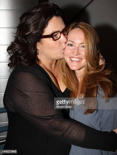 Rosie O'Donnell and her fiance Michelle Round pose at The New Group's 'Women Behind Bars' Reading at Acorn Theatre on May 7 2012 in New York City