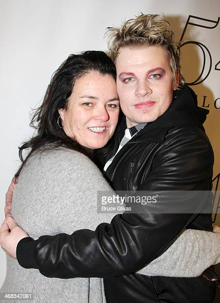 Rosie O'Donnell and Jeffrey Carlson attend the 'TabooTen Years Later' reunion concert at 54 Below on February 9 2014 in New York City