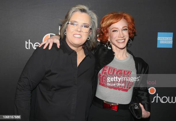 Rosie O'Donnell and Kathy Griffin pose at the opening night of the new musical The Cher Show on Broadway at The Neil Simon Theatre on December 3 2018...