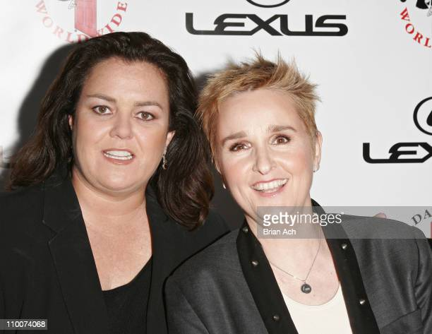 Rosie O'Donnell and Melissa Etheridge during Gilda's Club Gala Honoring Rosie O'Donnell at The Mandarin Oriental Hotel in New York New York United...