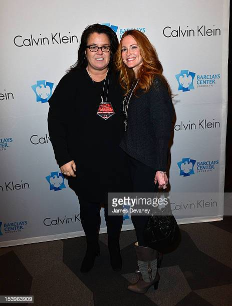 Rosie O'Donnell and Michelle Rounds attend Barbra Streisand's concert at Barclays Center on October 11 2012 in the Brooklyn borough of New York City