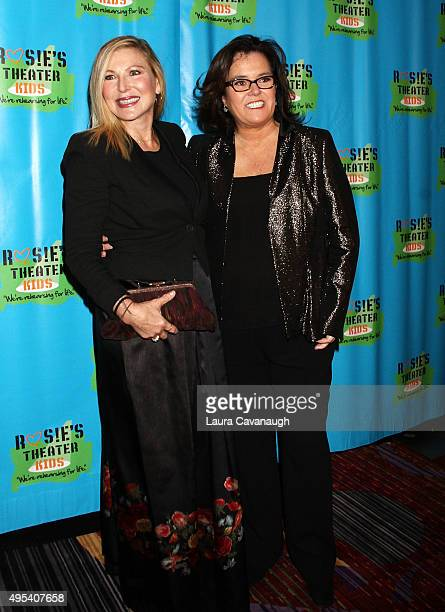 Rosie O'Donnell and Tatum O'Neal attend Rosie's Theater Kids' 12th Annual Gala Celebration at The New York Marriott Marquis on November 2 2015 in New...
