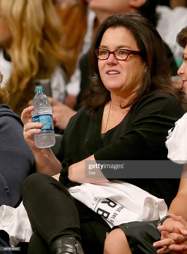 Rosie O'Donnell attends Game Six of the Eastern Conference Quarterfinals during the 2014 NBA Playoffs at the Barclays Center on May 2, 2014 in the Brooklyn borough of New York City.