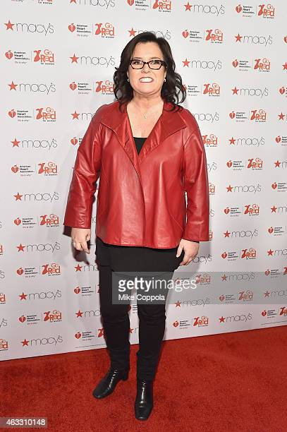 Rosie O'Donnell attends the Go Red For Women Red Dress Collection 2015 presented by Macy'sfashion show during MercedesBenz Fashion Week Fall 2015 at...