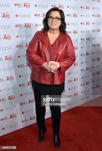 Rosie O'Donnell attends the Go Red For Women Red Dress Collection during MercedesBenz Fashion Week Fall 2015 at The Theatre at Lincoln Center on...