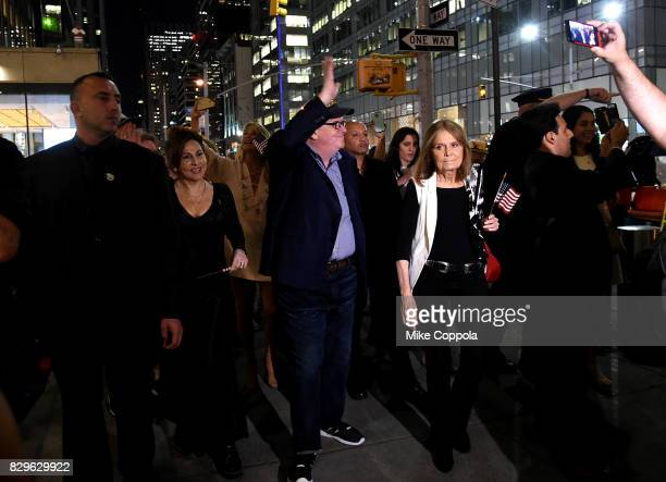Rosie O'Donnell Kathy Najimy Michael Moore Gloria Steinem Phil Donahue and Marlo Thomas attend The Terms Of My Surrender Broadway Opening Night After...