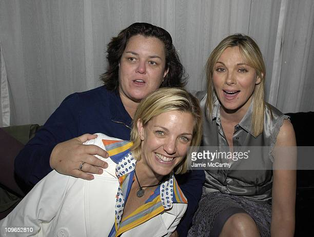 Rosie O'Donnell, Kelly O'Donnell and Kim Cattrall during PureRomance.com and Jewelry by Rosalina Present Kim Cattrall's Party for Mario Cantone's...