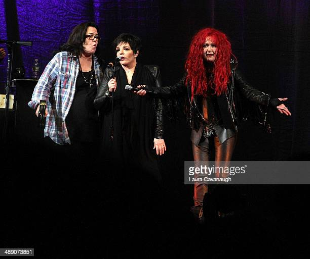 Rosie O'Donnell Liza Minnelli and Cyndi Lauper perform at Barclays Center on May 9 2014 in the Brooklyn borough of New York City