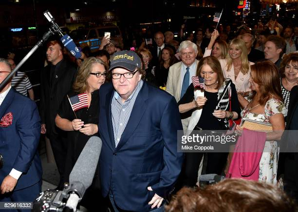 Rosie O'Donnell Michael Moore Gloria Steinem Phil Donahue and Marlo Thomas attend 'The Terms Of My Surrender' Broadway Opening Night After Party at...