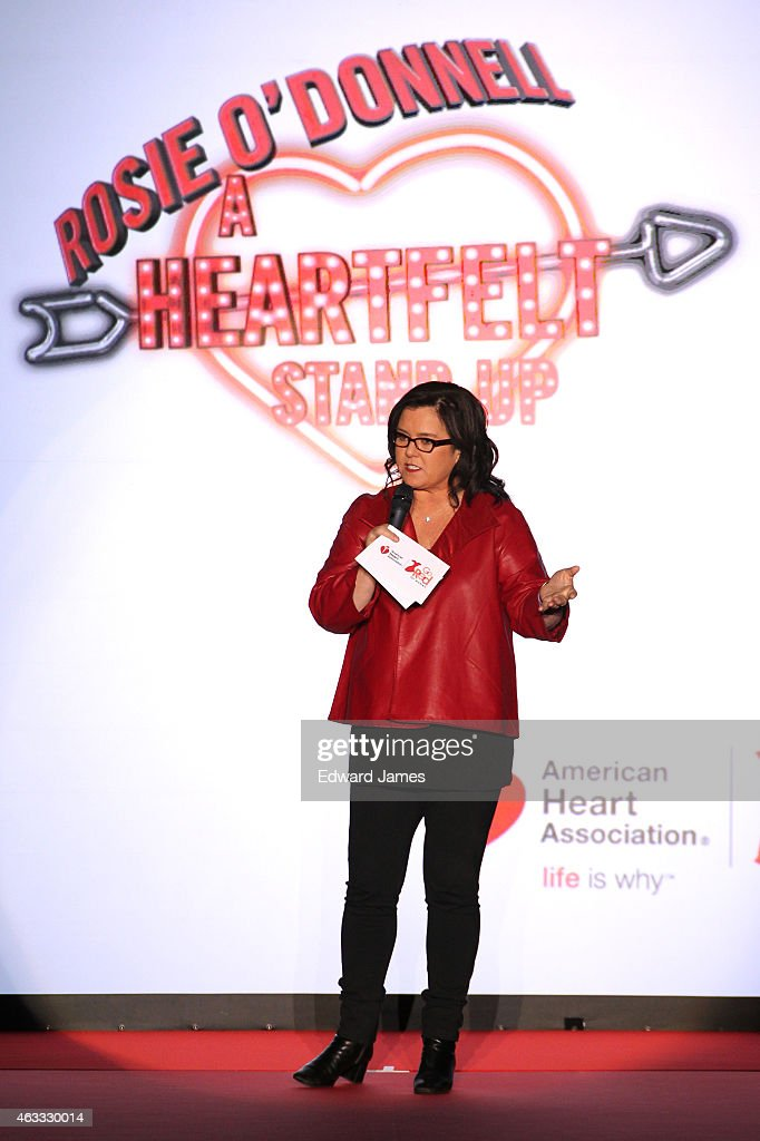 Rosie O'Donnell opens the show at The Theatre at Lincoln Center on February 12, 2015 in New York City.