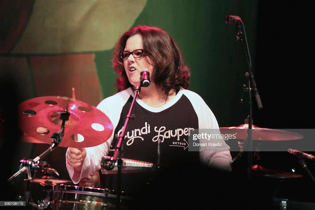 Rosie O'Donnell plays drums as she performs as part of the Cyndi Lauper & Boy George In Concert with guest Rosie O'Donnell at The Borgota Hotel Casino & Spa on May 29, 2016 in Atlantic City, New Jersey.