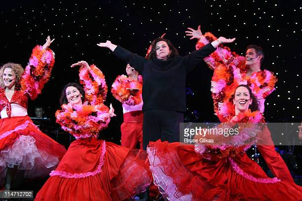 Rosie O'Donnell with The R Family Dancers
