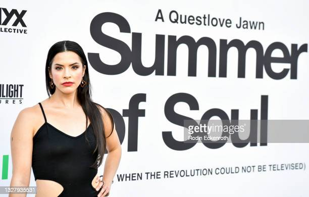 """Rosie Okumura attends the Cinespia Special Screening of Fox Searchlight and Hulu's """"Summer Of Soul"""" with Questlove at The Greek Theatre on July 09,..."""