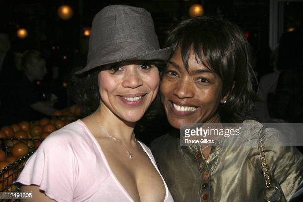 Rosie Perez and Angela Bassett during Neil Labute's 'This Is How It Goes' Opening Night After Party Inside at BBar in New York City New York United...