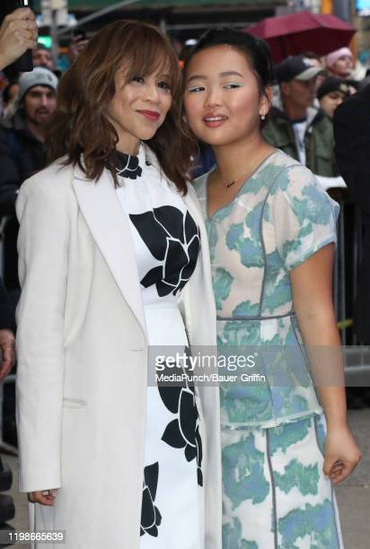 Rosie Perez and Ella Jay Basco are seen on February 04 2020 in New York City