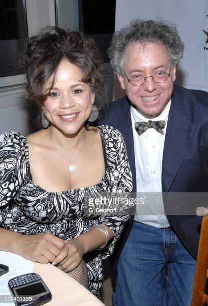 Rosie Perez and James Schamus during 14th Annual Hamptons International Film Festival Industry Toast to Ted Hope at East Hampton Point in East...