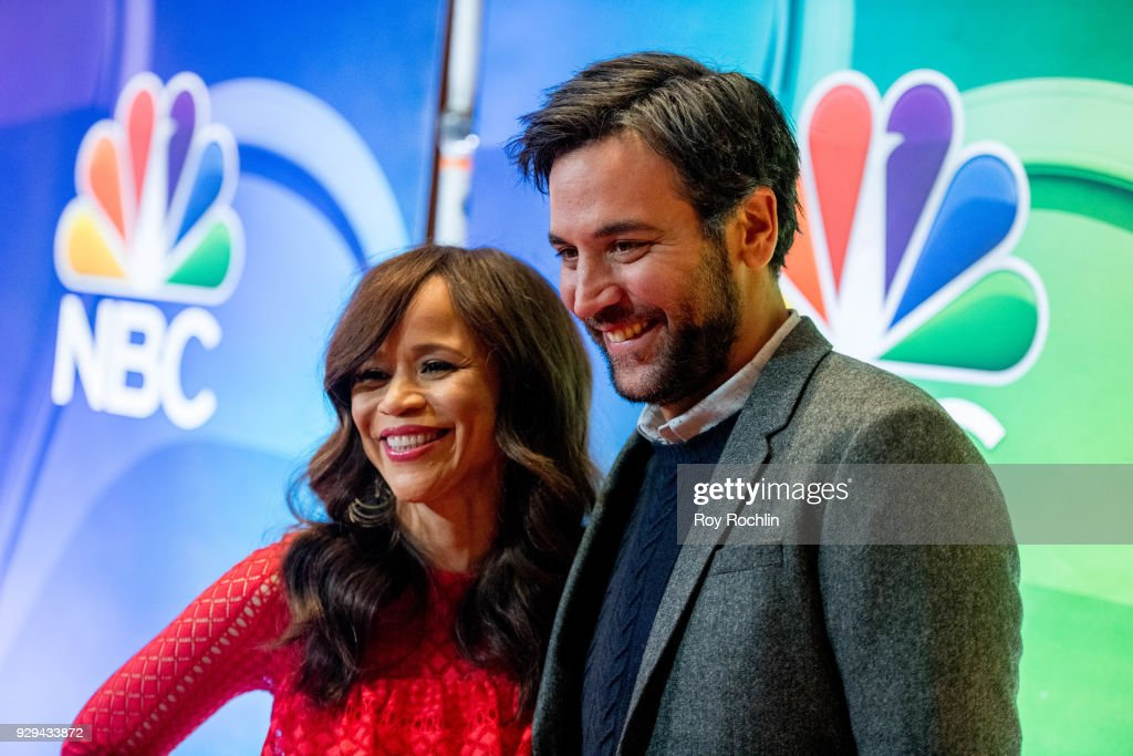 Rosie Perez and Josh Radnor attend NBC's New York mid season press junket at Four Seasons Hotel New York on March 8, 2018 in New York City.