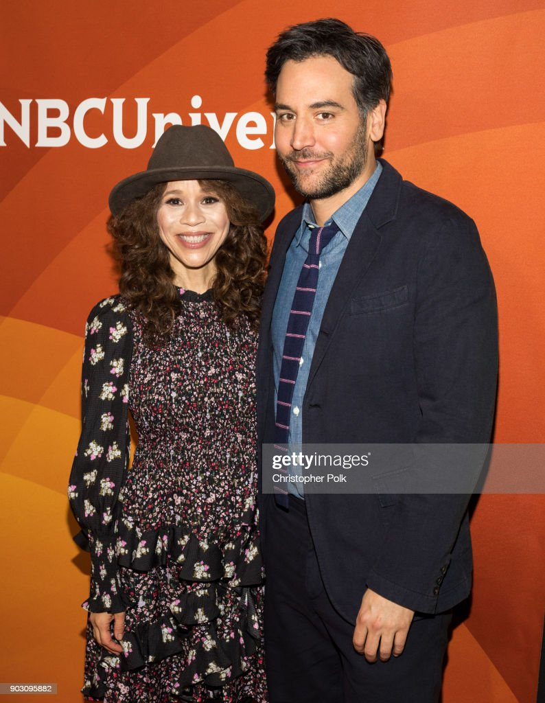 Rosie Perez and Josh Radnor attend the 2018 NBCUniversal Winter Press Tour at The Langham Huntington, Pasadena on January 9, 2018 in Pasadena, California.