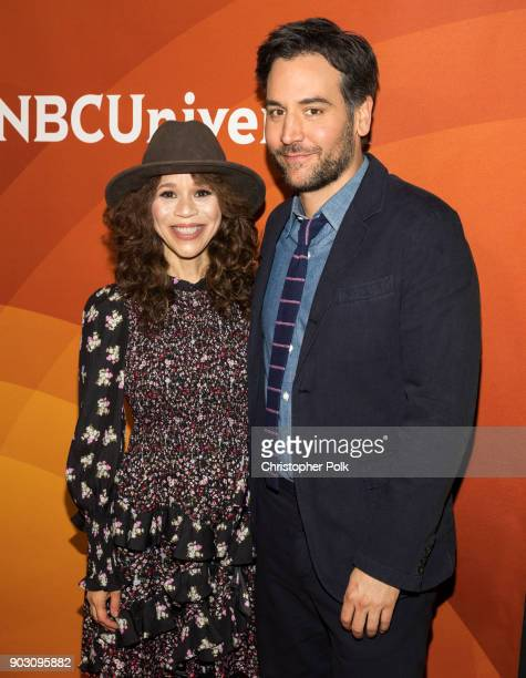 Rosie Perez and Josh Radnor attend the 2018 NBCUniversal Winter Press Tour at The Langham Huntington Pasadena on January 9 2018 in Pasadena California