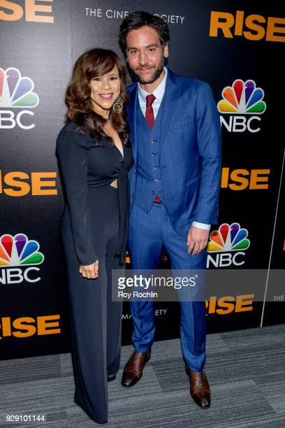 Rosie Perez and Josh Radnor attend the Rise New York premiere at Landmark Theatre on March 7 2018 in New York City