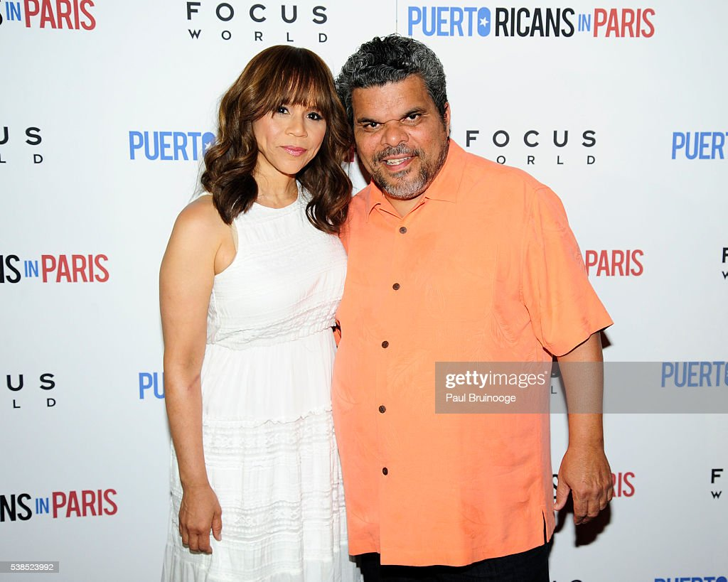 Rosie Perez and Luiz Guzman attend New York Special Red Carpet Screening of Focus World's PUERTO RICANS IN PARIS at Landmark Sunshine on June 6, 2016 in New York City.