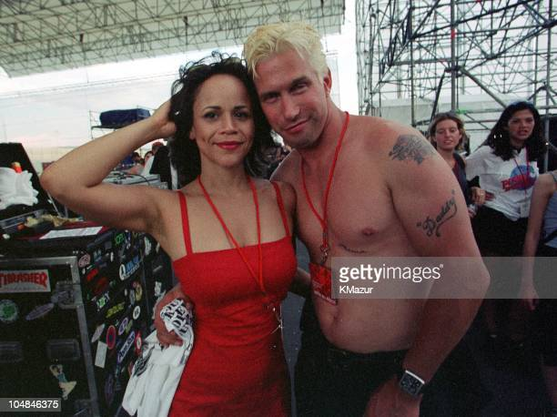 Rosie Perez and Stephen Baldwin during Woodstock '99 in Saugerties New York in Saugerties New York United States